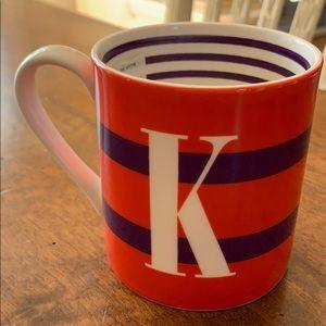Kate Spade K Coffee Mug